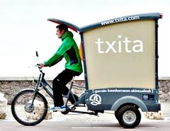 Cargocycle of the company Txita in San Sebastian