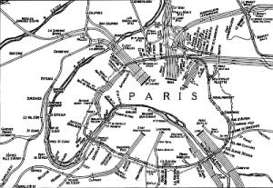plan de la petite ceinture en 1924