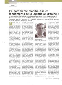 article stratégies logistique mars 2014